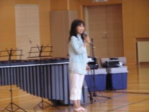 今回の企画をバックアップしてくれた音楽療法士の中村智子さん。