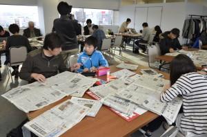 小学5年生の折り紙のアイディアはまわしよみ新聞初だそうですよ。